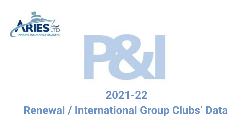 2021-22 P&I Renewal / International Group Clubs' Data